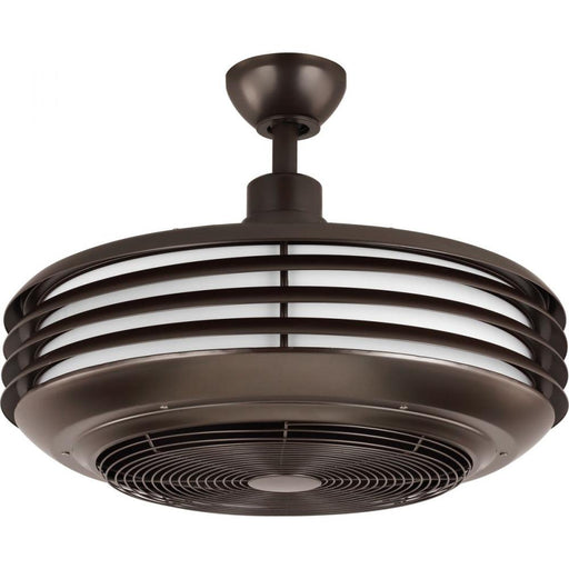 "Progress Sanford 24"" Enclosed Indoor/Outdoor Ceiling Fan with LED Light 