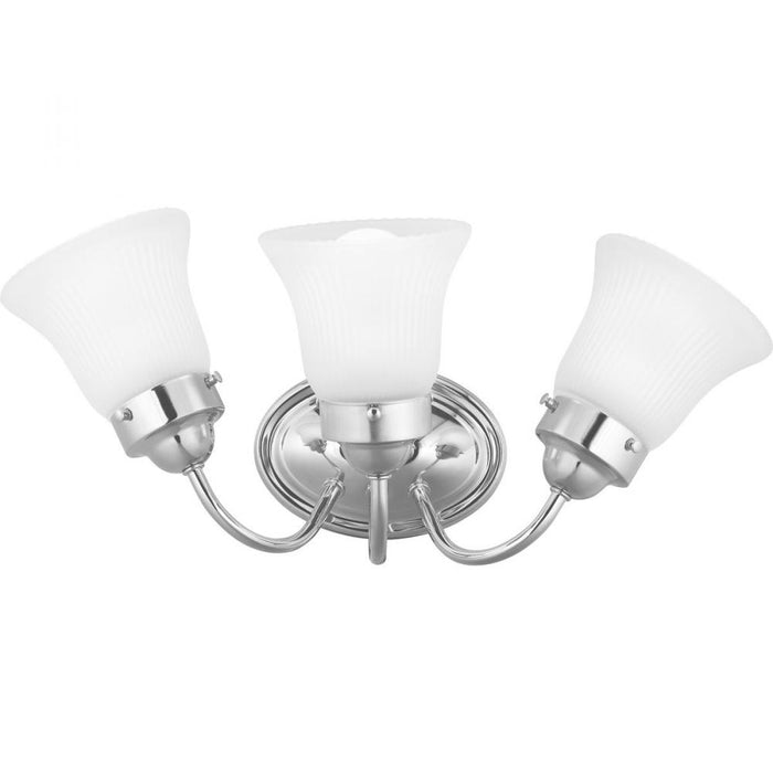 Progress Fluted Glass Collection Three-Light Bath & Vanity | P3289-15ET
