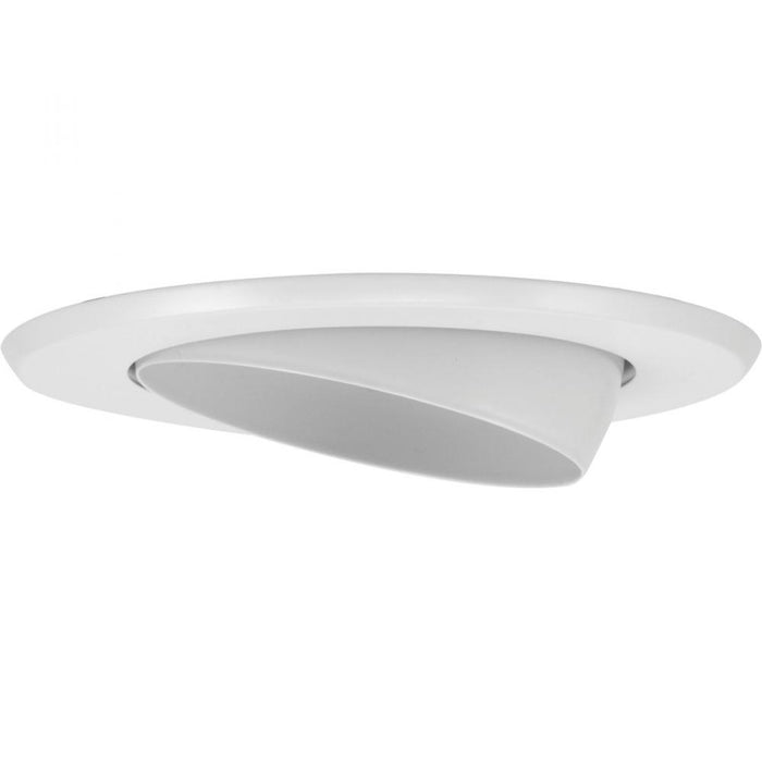 "Progress 5"" Recessed Step Baffle Trim for P851-ICAT, White Finish 