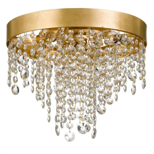 Crystorama Winham 4 Light Antique Gold Crystal Ceiling Mount | WIN-613-GA-CL-MWP
