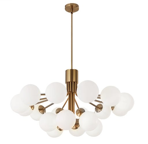 Dainolite 18 Lights Chandelier, AGB Finish w/ Opal Glass | AMA-3618C-AGB