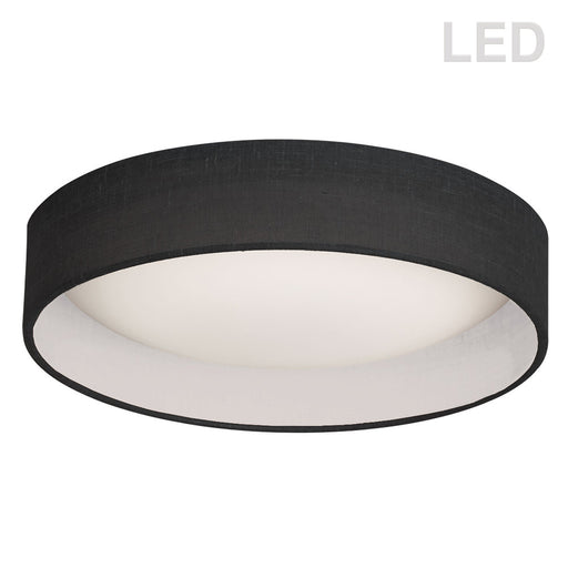 "Dainolite 15"" Flush Mount, Black Shade 