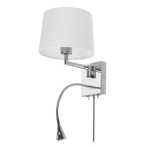 Dainolite Wall Sconce w/Reading Lamp, PC Finish | DLED426A