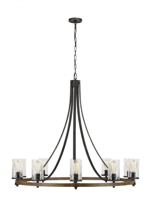Generation Lighting - Feiss 10 - Light Chandelier | F3137/10DWK/SGM