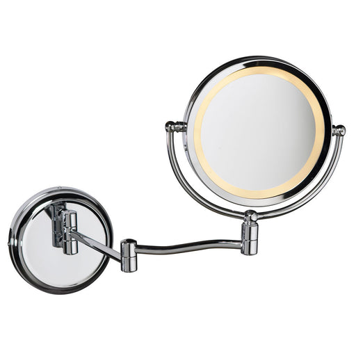 Dainolite 5x Swing Arm LED Lighted Magnifier Mirror | LEDMIR-1W-PC