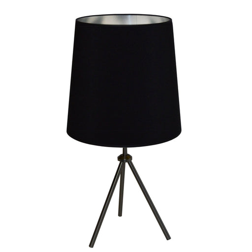 Dainolite 1 Light 3 Leg Drum Table Fixture w/BK-SV Shd | OD3T-L-697-MB