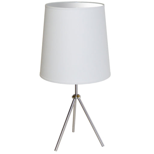 Dainolite 1 Light 3 Leg Drum Table Fixture w/White Shade | OD3T-L-790-SC