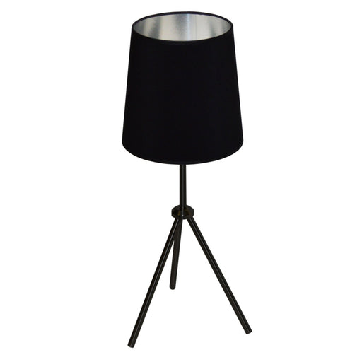 Dainolite 1 Light 3 Leg Drum Table Fixture w/BK-SV Shd | OD3T-S-697-MB