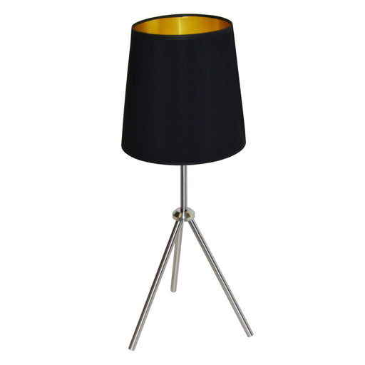 Dainolite 1 Light 3 Leg Drum Table Fixture w/BK-GLD Shd | OD3T-S-698-SC