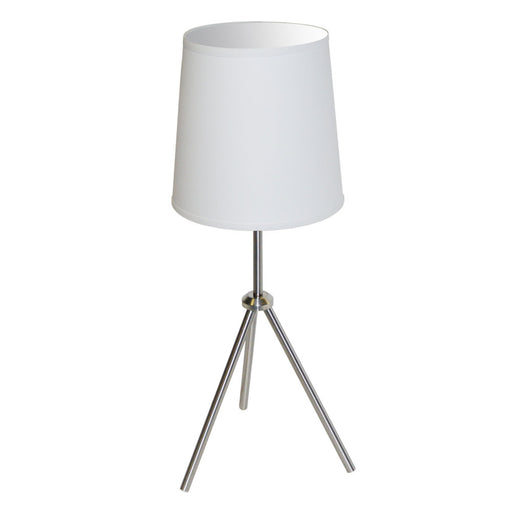 Dainolite 1 Light 3 Leg Drum Table Fixture w/White Shade | OD3T-S-790-SC