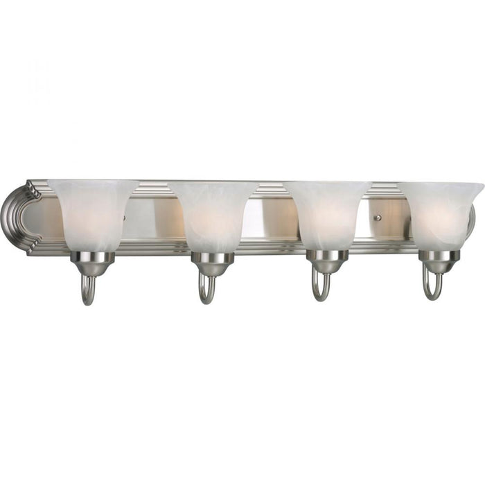Progress Alabaster Glass Four-Light Bath & Vanity | P3054-09