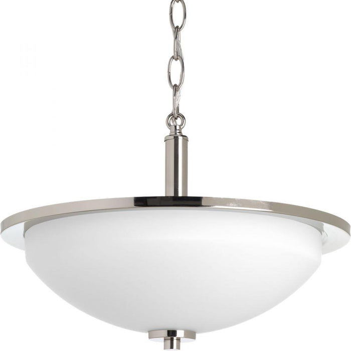 "Progress Replay Collection Two-light 14-3/4"" Semi-Flush 