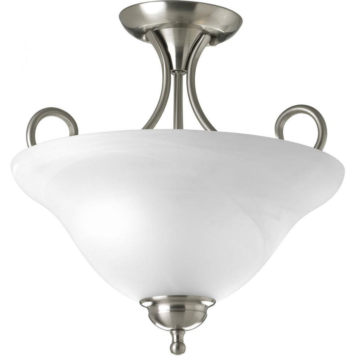 "Progress Two-Light 13-1/4"" Semi-Flush 
