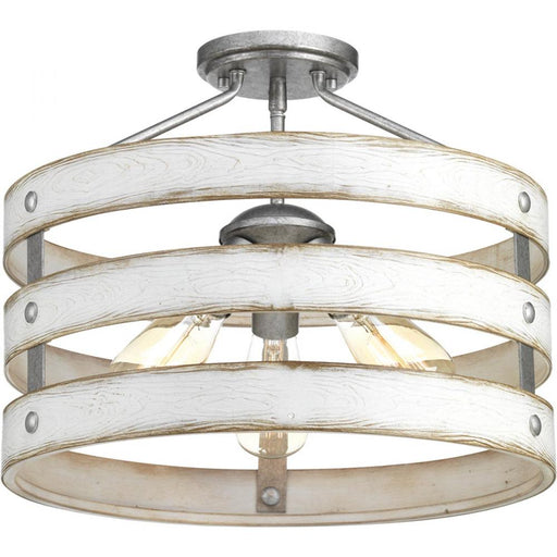 "Progress Gulliver Collection Collection Three-Light 17"" Semi-Flush Convertible 