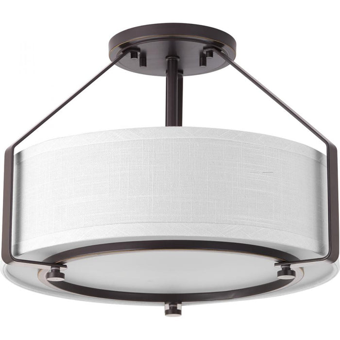 Progress Ratio Collection Three-Light Semi-Flush Mount | P3604-20