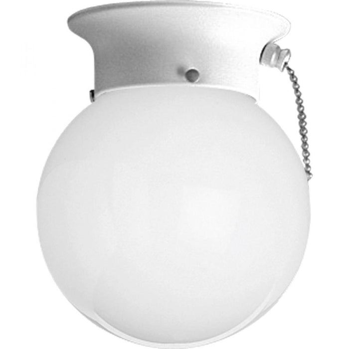 "Progress One-Light Glass Globe 6"" Close-to-Ceiling 