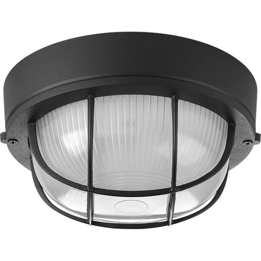 "Progress One-Light Bulkhead 7-7/8"" Flush Mount 
