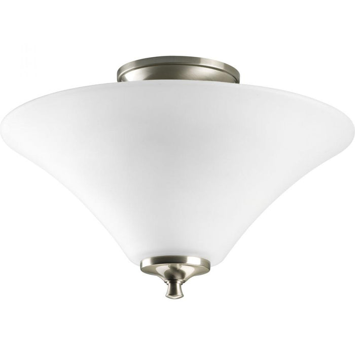 "Progress Two-Light Joy 13-1/4"" Semi Flush 
