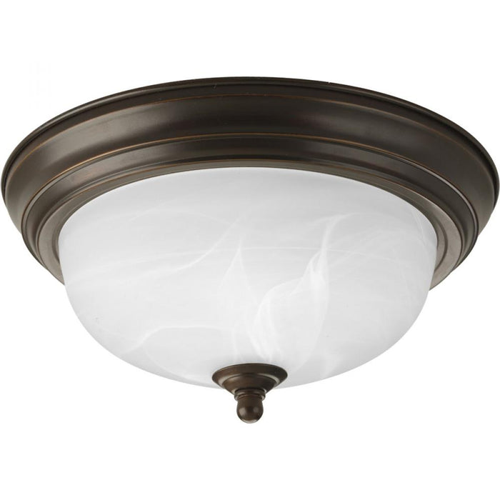 "Progress One-Light Dome Glass 11-3/8"" Close-to-Ceiling 