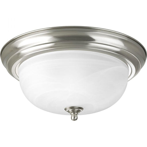 "Progress Two-Light Dome Glass 13-1/4"" Close-to-Ceiling 