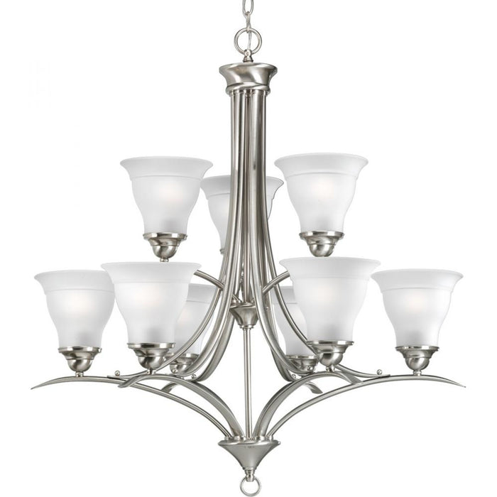 Progress Trinity Collection Nine-Light, Two-Tier Chandelier | P4329-09