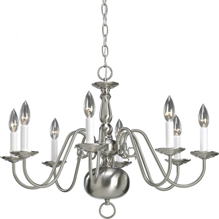 Progress Americana Collection Eight-Light Chandelier | P4357-09