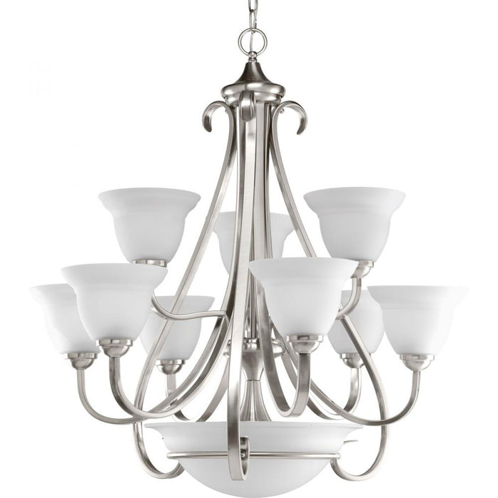 Progress Torino Collection Nine-Light, Two-Tier Chandelier | P4418-09