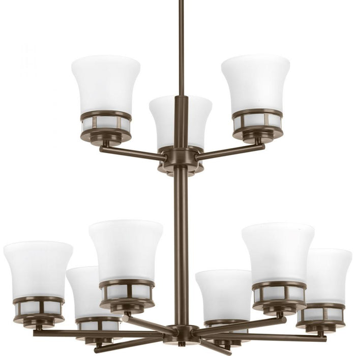 Progress Cascadia Collection Nine-Light, Two-Tier Chandelier | P4614-20