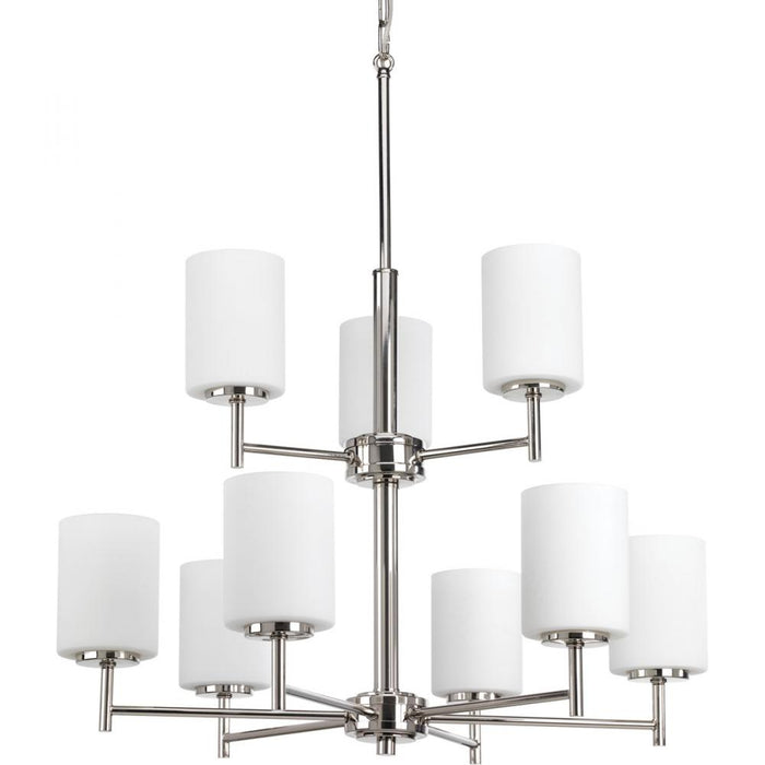 Progress Replay Collection Nine-Light, Two-Tier Chandelier | P4726-104