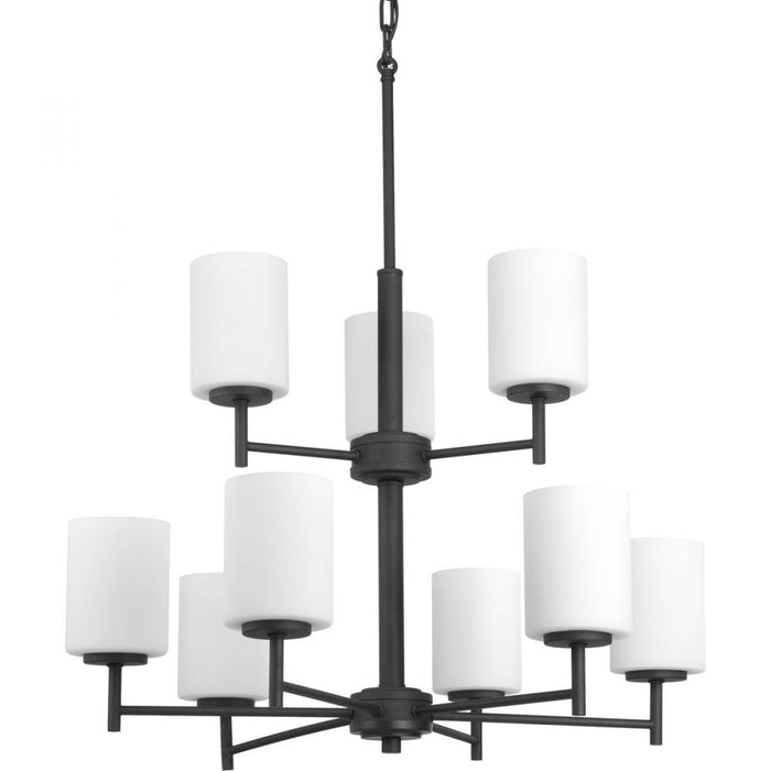 Progress Replay Collection Nine-Light, Two-Tier Chandelier | P4726-31