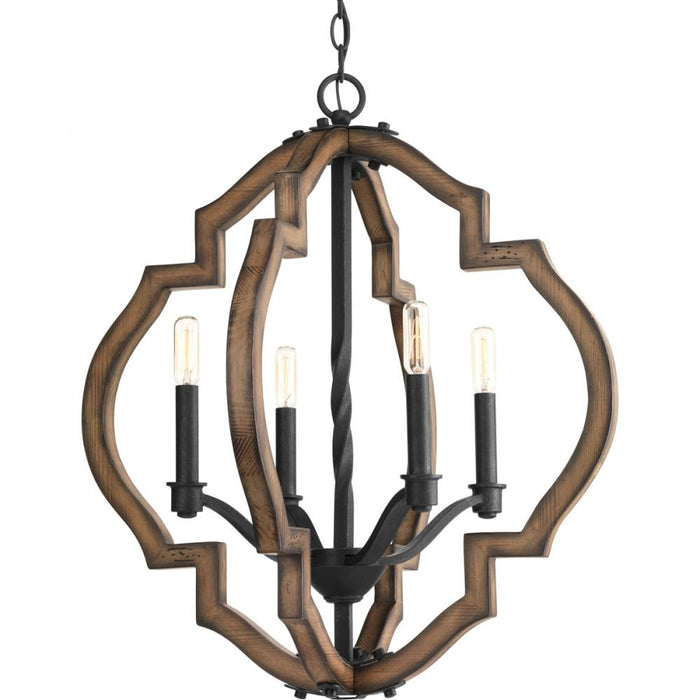 Progress Spicewood Collection Four-Light Chandelier | P4766-71