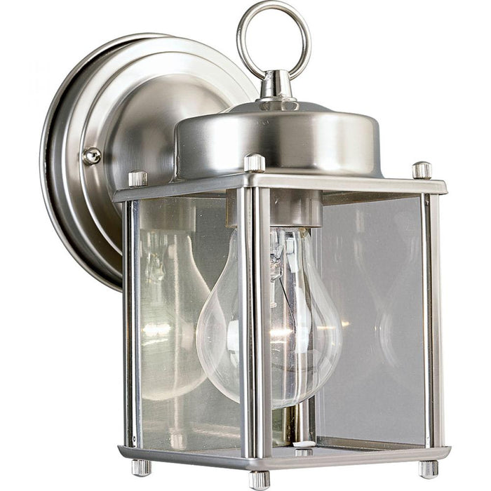 Progress Flat Glass Lantern One-Light Wall Lantern | P5607-09