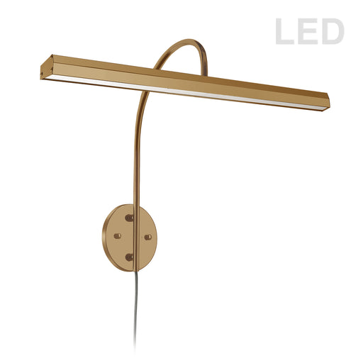 Dainolite 30W Picture Light, Aged Brass Finish | PIC120-23LED-AGB