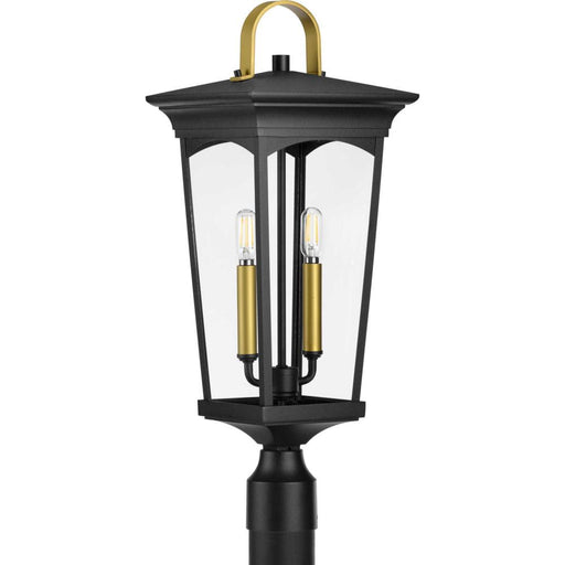 Progress Chatsworth Collection Black Two-Light Post Lantern | P540067-031