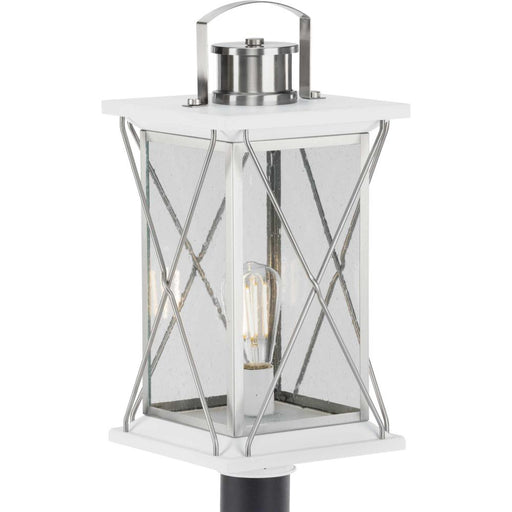 Progress Barlowe Collection Stainless Steel One-Light Post Lantern | P540068-135