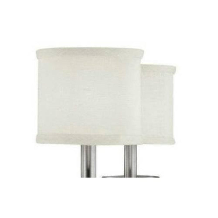 Capital White Fabric Stay-Straight Shade | S469