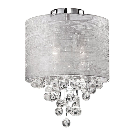 Dainolite 2 Lights Incan Crystal Flush-Mount P Chrome Silver | TAH-122FH-PC