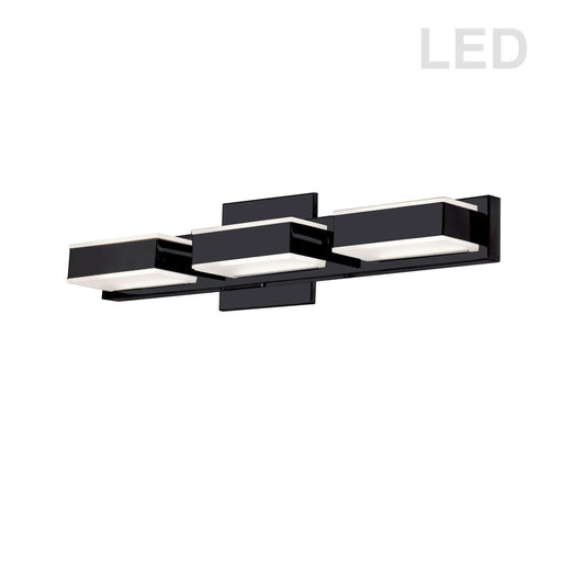 Dainolite 15W LED Wall Vanity, Matte Black Finish | VLD-215-3W-MB