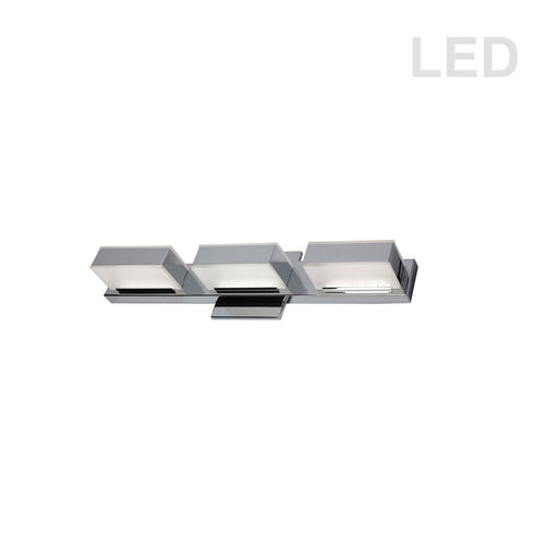 Dainolite 15W LED Wall Vanity, Polished Chrome Finish | VLD-215-3W-PC