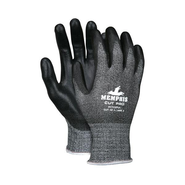 MCR Safety® Cut Pro™ PU Coated Gloves w/ HPPE Shell, 13 ga - Dozen