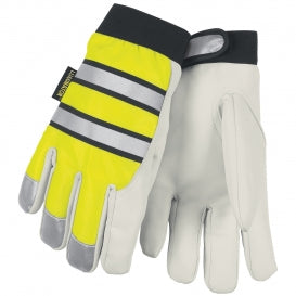 MCR Safety® Luminator™ Thermosock® Lined Goatskin Leather Multi-Task Gloves - Pair - 968