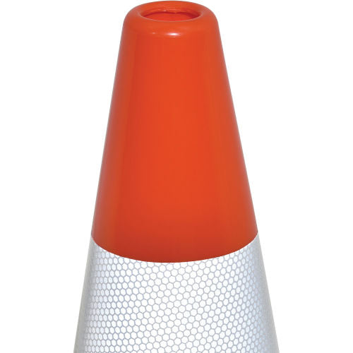 "Cortina DW Series 36"" Traffic Cone, Reflective, Black Base, 10 lbs - 0350006"