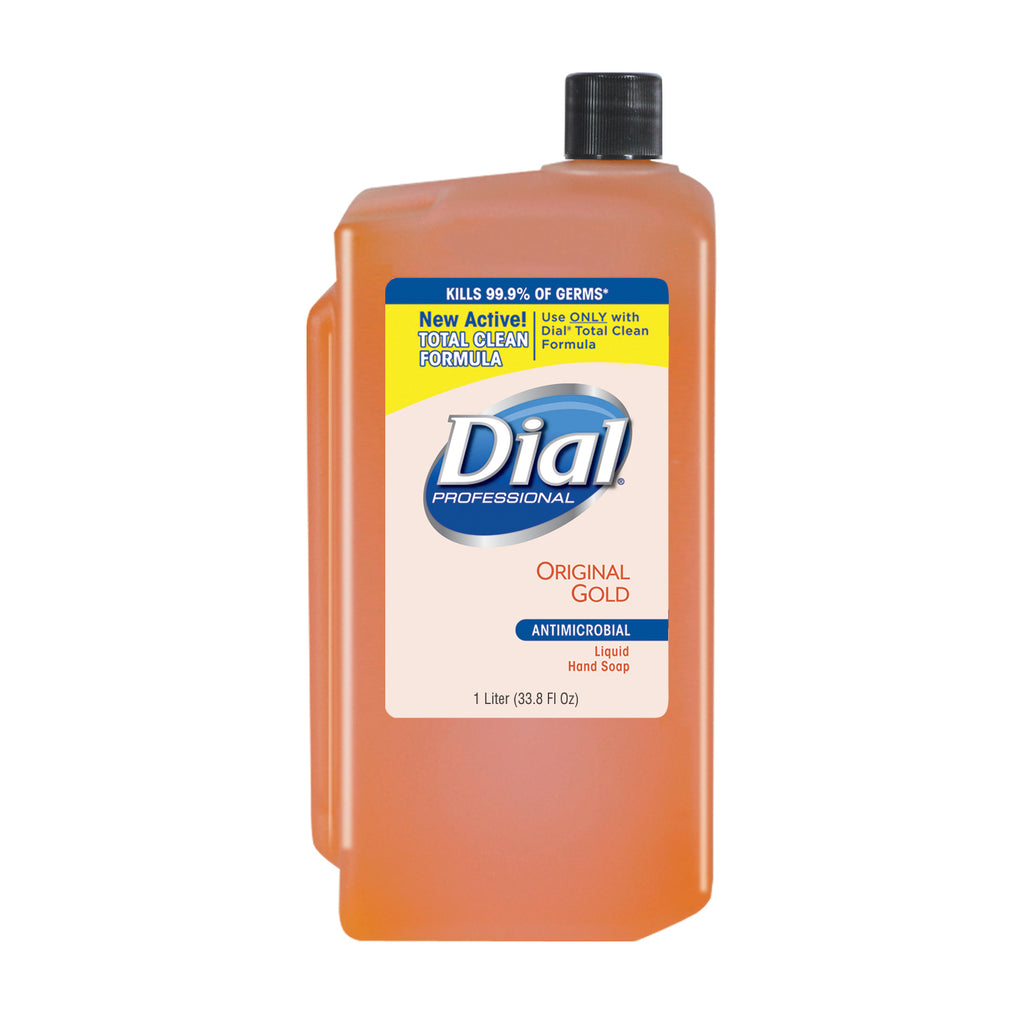 Dial Gold Liquid Hand Soap 1 Liter Refill, Antimicrobial,  8/cs