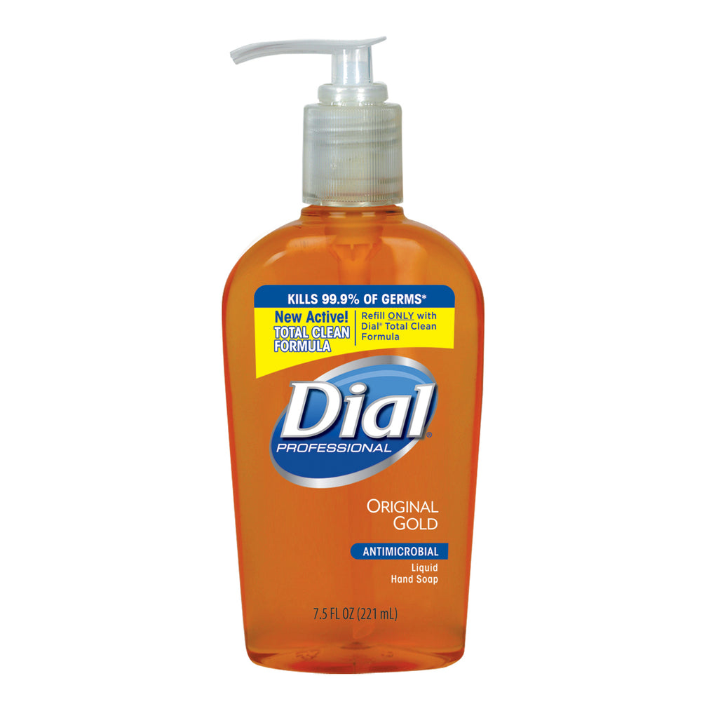 Dial Gold Liquid Hand Soap 7.5 oz., Antimicrobial, 12/cs