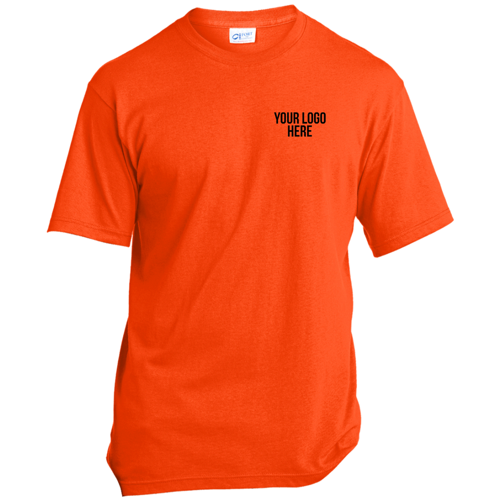 Safety Orange SS - 50/50 Cotton/Poly with Logo