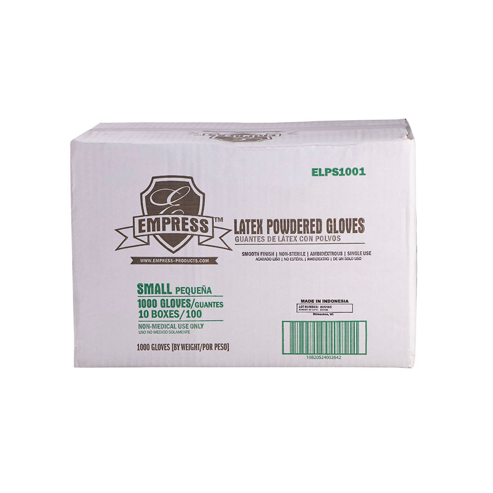 ELPS1001 Empress Latex Glove Powdered Small 10 / 100 cs