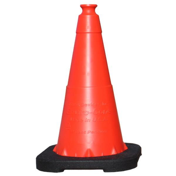 "Enviro-Cone® Traffic 36"" Cone, Non-Reflective, Black Base, 10lbs - 160361VC"