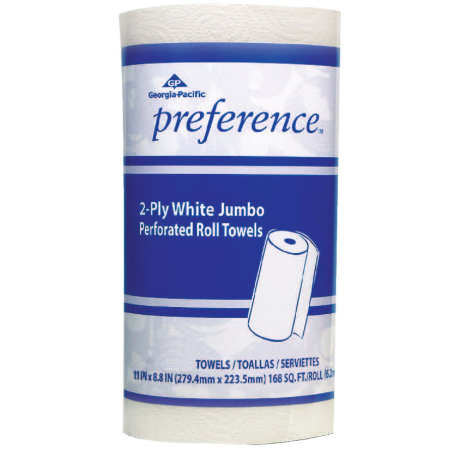 Georgia Pacific Preference Perforated Paper Towels, White, 85 Sheets/Roll -30Rls/Case 27385