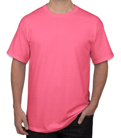 Gildan 50/50 Poly Blend T-Shirt - Safety Green, Safety Orange, Safety Pink