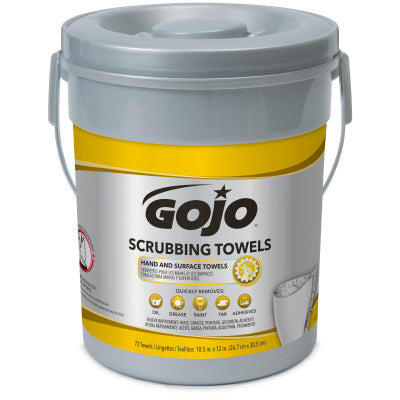 Gojo® Heavy-Duty Scrubbing Towels Waterless - 72/Bucket, 6/Case
